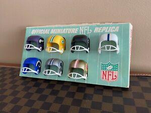 1960-039-s-NFL-Football-Miniature-Helmet-039-s-on-Display-Card-EXTREMELY-RARE