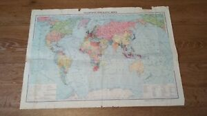 Old-paper-political-map-of-the-world-of-the-USSR