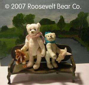 2-Artist-Teddy-chair-ROOSEVELT-BEAR-Co-Tiny-MINIATURE-ooak-SET-Cathy-Peterson