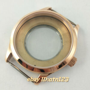 42mm-Sapphire-Rose-Gold-Watch-Case-Fit-ETA-2836-Miyota-8215-821A-Mingzhu-DG-2813