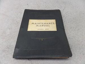 AERO COMMANDER MODEL 680 TWIN MAINTENANCE MANUAL
