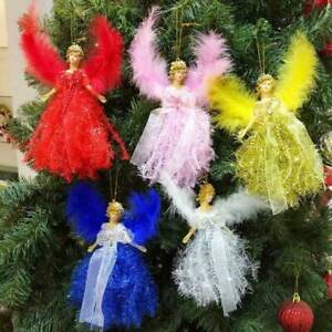 Christmas-Feather-Angel-Doll-Hanging-Xmas-Tree-Pendants-Ornaments-Home-Decor