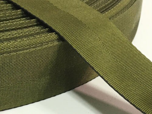 "1.25/"" Inch MilSpec Military Webbing Binding MIL-W-4088 OD7 PER YARD"