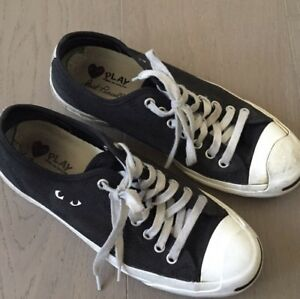 059654219811 Converse Comme des Garcons CDG Play Jack Purcell Black 7 Men s  8.5 ...