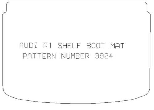 AUDI A1 2010 BOOT SHELF MAT CARPET FULLY TAILORED 3924