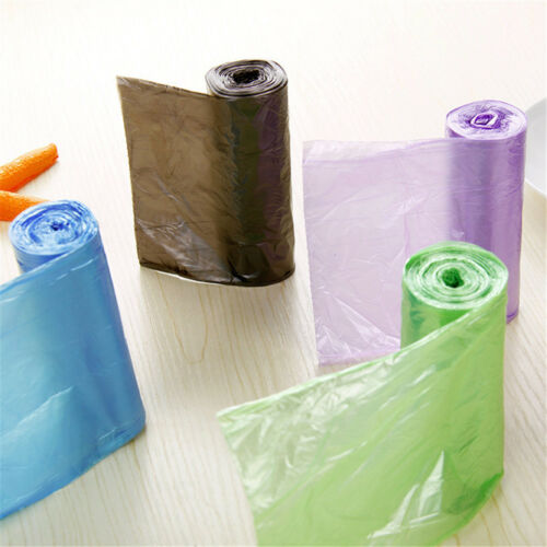 1roll 50*60CM Kitchen Office Clear Trash Bag Liners Disposable Garbage Bags XS