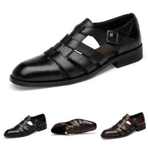 Mens Dress Formal Leather Shoes Retro Slip on Work Business Nightclub Buckle New