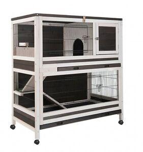 cage pour lapin d 39 interieur clapier lapin d 39 interieur en bois hutchland agrc0004 ebay. Black Bedroom Furniture Sets. Home Design Ideas