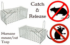 2x Large Metal Mouse Trap Rat Vermin Rodent Catcher Easy Bait Humane Mice Live