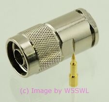 Coax Connector N Male Clamp fits LMR400 9913 Coax Cables - by W5SWL ®