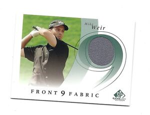 RARE-2002-SP-F95-MW-MIKE-WEIR-GAME-USED-SHIRT-CARD