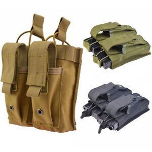 Image is loading MOLLE-Magazine-Mag-Pouch-Holster-Nylon-Double-Open- e28c0086b9