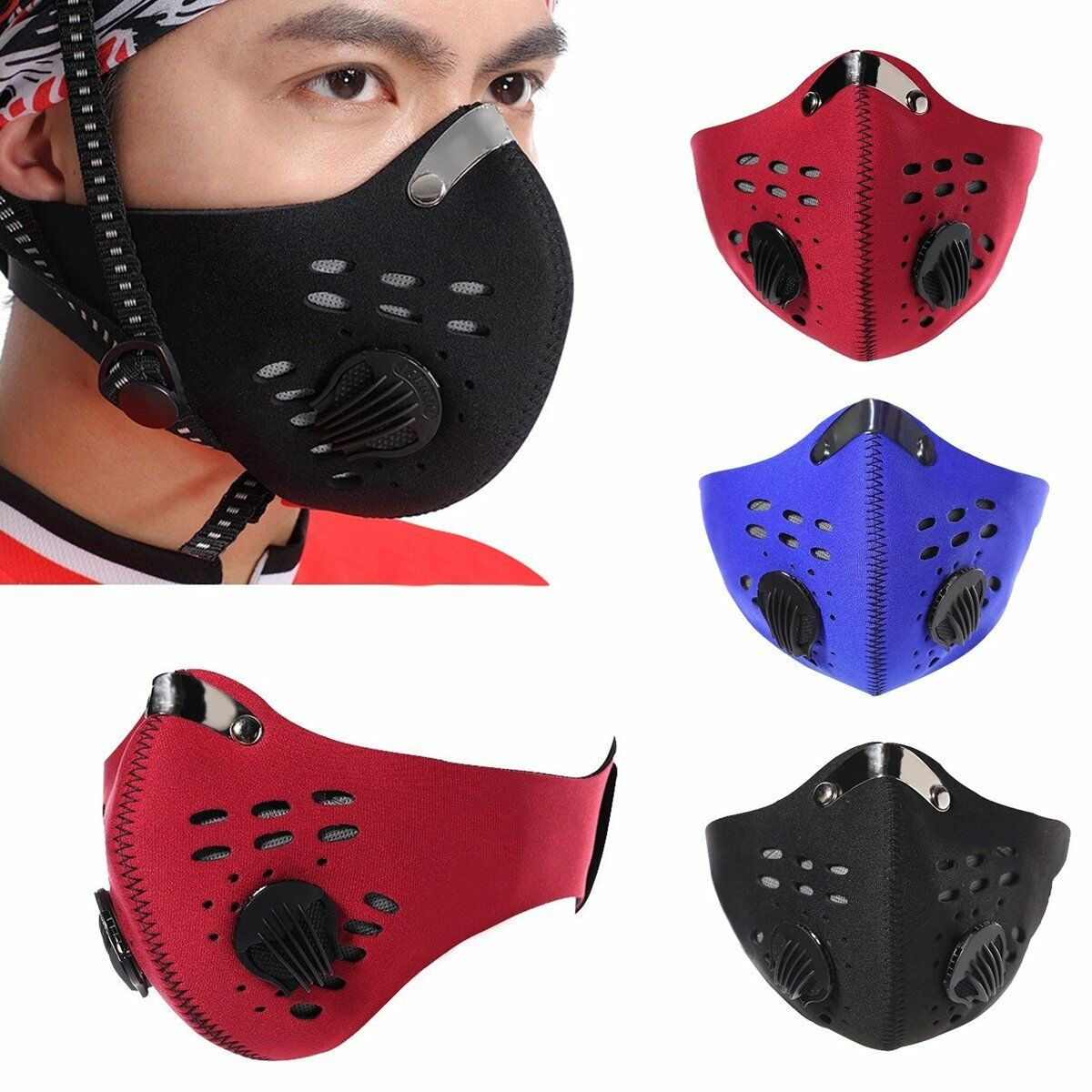 Bike Motorcycle Dust Half Face Mask Cycling Hot Ski Racing Bicycle S Q3Y1
