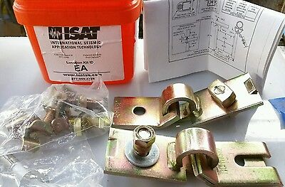 NEW ISAT SEISMIC BRACKET SUPPORT ANCHOR BRACING CABLE EARTHQUAKE FREE SHIP USA