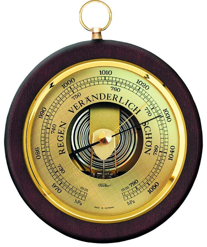 Fischer Barómetro para uso en interiores, haya natural, 1436R-02,ES