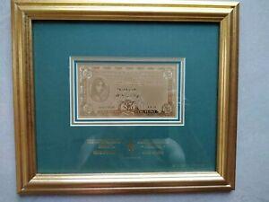 5 Lb 1973 Irlande Billet Dans Le Cadre Avec Certificat Note Ireland Coin-afficher Le Titre D'origine