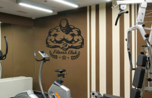 ik526 Wall Decal Sticker pumped sport bodybuilding muscle workout gym fitness
