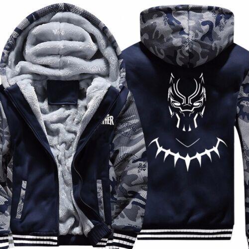 Panthère Noire Cosplay Homme Chaud Veste à capuche Sweatshirts épaissir Zipper Manteau