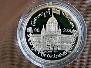 2001 Victoria VIC PROOF 20 Cent Centenary of Federation Series Australia