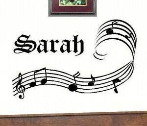 Personalized Music Wall Mural Art Decal Sticker Vinyl Home Decor 24 X 12