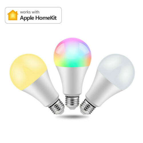 Wifi Smart RGB LED Light Bulbs Siri Voice APP Control Apple Home Lamps Kit E27