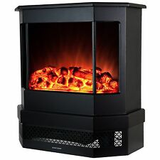 """23"""" 2 Setting 1500W Adjustable Freestanding Electric Fireplace Heater Stove Logs"""
