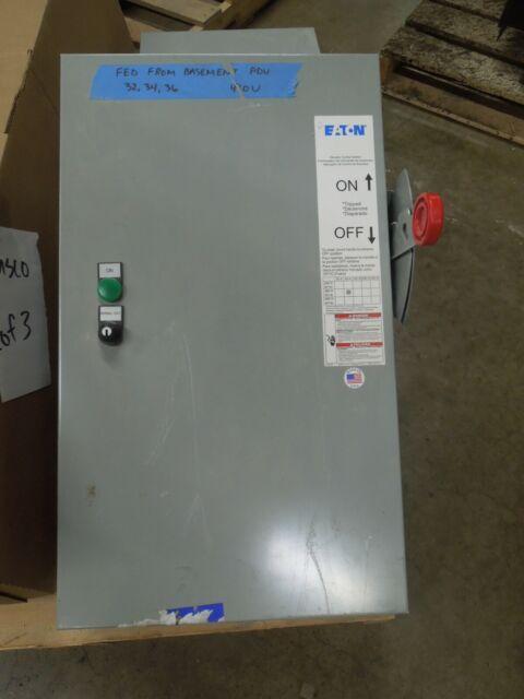 Eaton Es2t1r1gf3nb 60a 3p 480v Fusible Elevator Control Switch Type 1 Enclosure