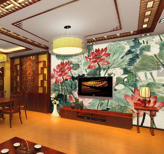 3D Ink Lotus 3442 Fototapeten Wandbild Fototapete BildTapete Familie DE
