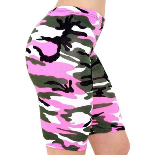 Le donne Donna Esercito Leopardato Teschio Stampato Ciclismo HOT Jersey Pantaloncini Pantaloni Elastici