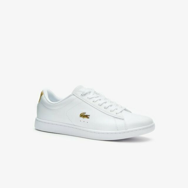 0a479af7bb Women's Lacoste Carnaby EVO 219 1 White / Gold Trainers Size UK 5
