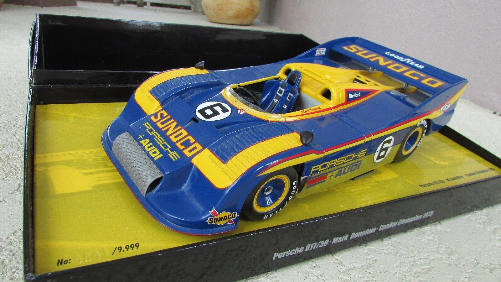 1973 Porsche 917 30 race car Mark Donohue Penske Sunoco Can Am Minichamps 1 18