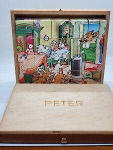 Vintage-Made-In-Germany-Hermann-Eichhorn-Fairy-Tale-Picture-Cube-Blocks-Puzzle