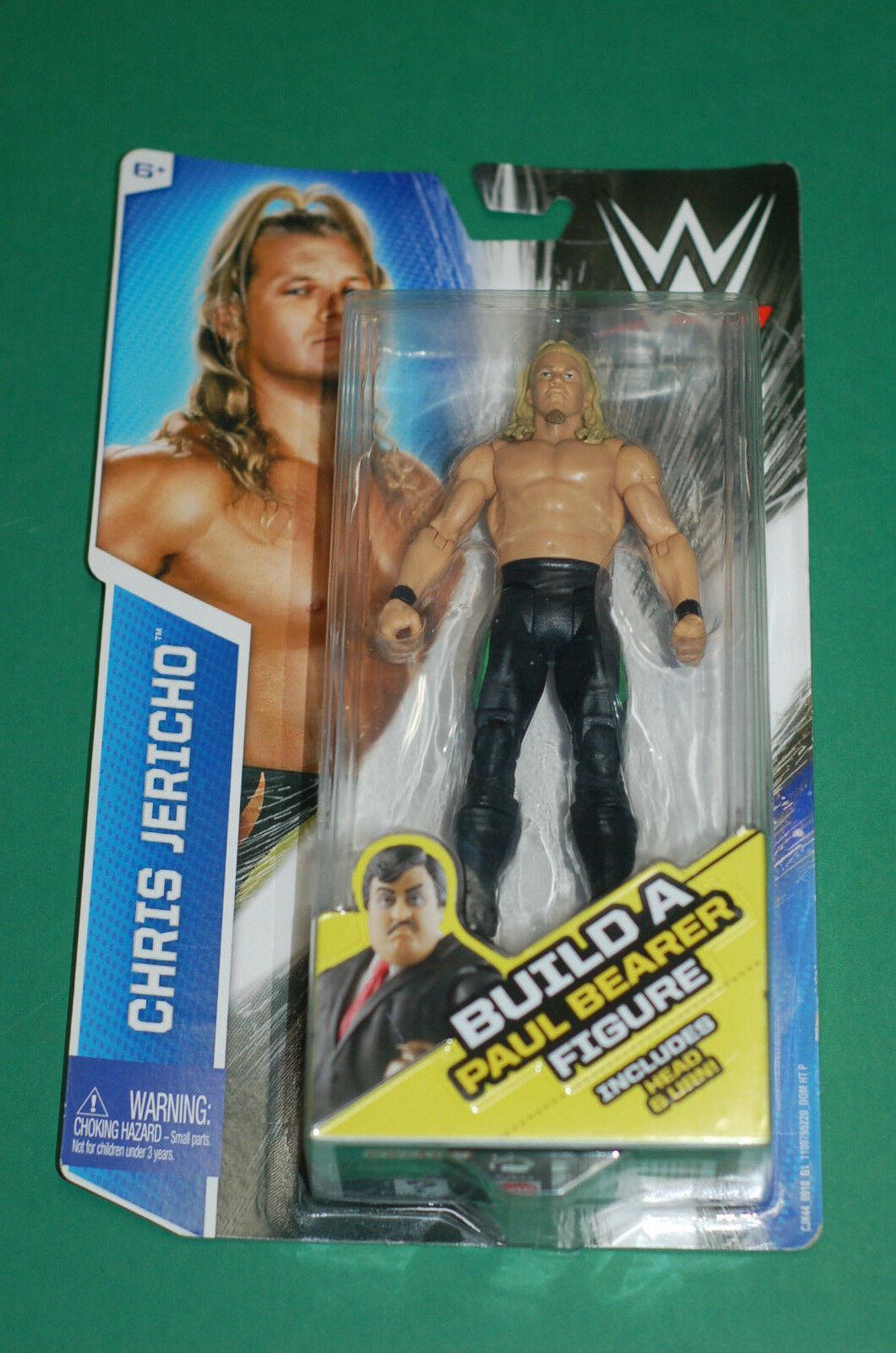WWE WWF Chris Jericho Build a Figure Paul Bearer head wrestling figure Mattel