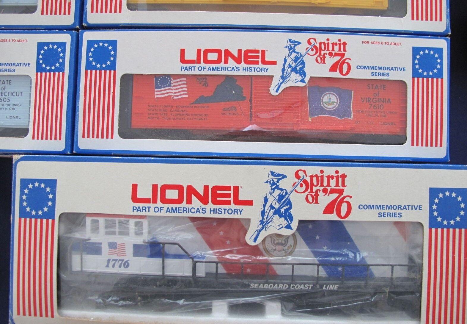 1776-1976 Lionel  Spirit of '76  15 Piece Collection U36B Diesel +13 Box Cars