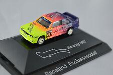 BMW M3 Unitron DTM 1992 Sondermodell Raceland limitiert, Nissen, Sockel Norisrin