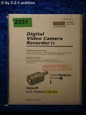 Sony Bedienungsanleitung DCR TR8000E /TR8100E Digital Video Camera (#2331)