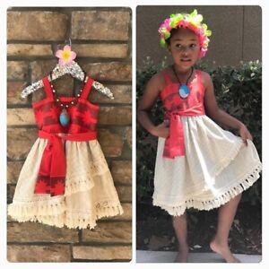 Kids Baby Girls Child Princess Moana Cosplay Cosplay Costume Summer Slip Dress