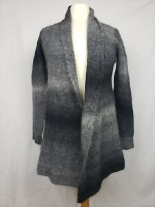 Eileen Fisher Square Neck Long Cardigan in Washed Mohair LUNA NWT $278