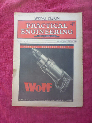 July 1946 Vintage Practical Engineering Magazine Spring Design