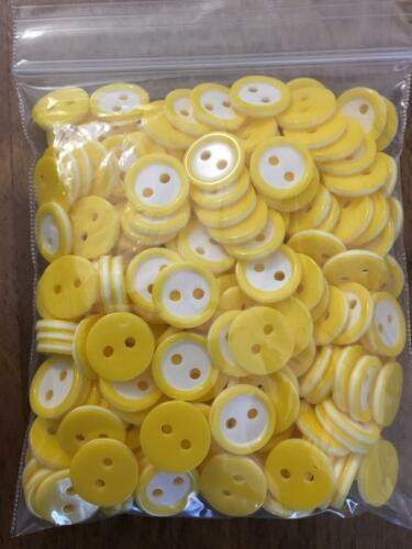 11mm 18L 2 Hole Rim Coloured Buttons White Centre Pack Of 10