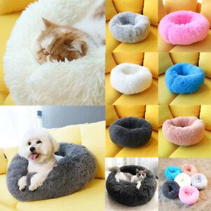 Hundebett-Katzebett-Haustier-Hund-Nest-Kissen-Weiches-Waschbar-Flauschige-Pluesch