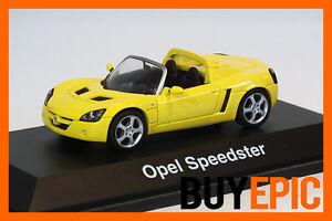 Schuco-1-43-Opel-Speedster-2-2-Vauxhall-VX220-gelb-yellow-Modellauto-NEU