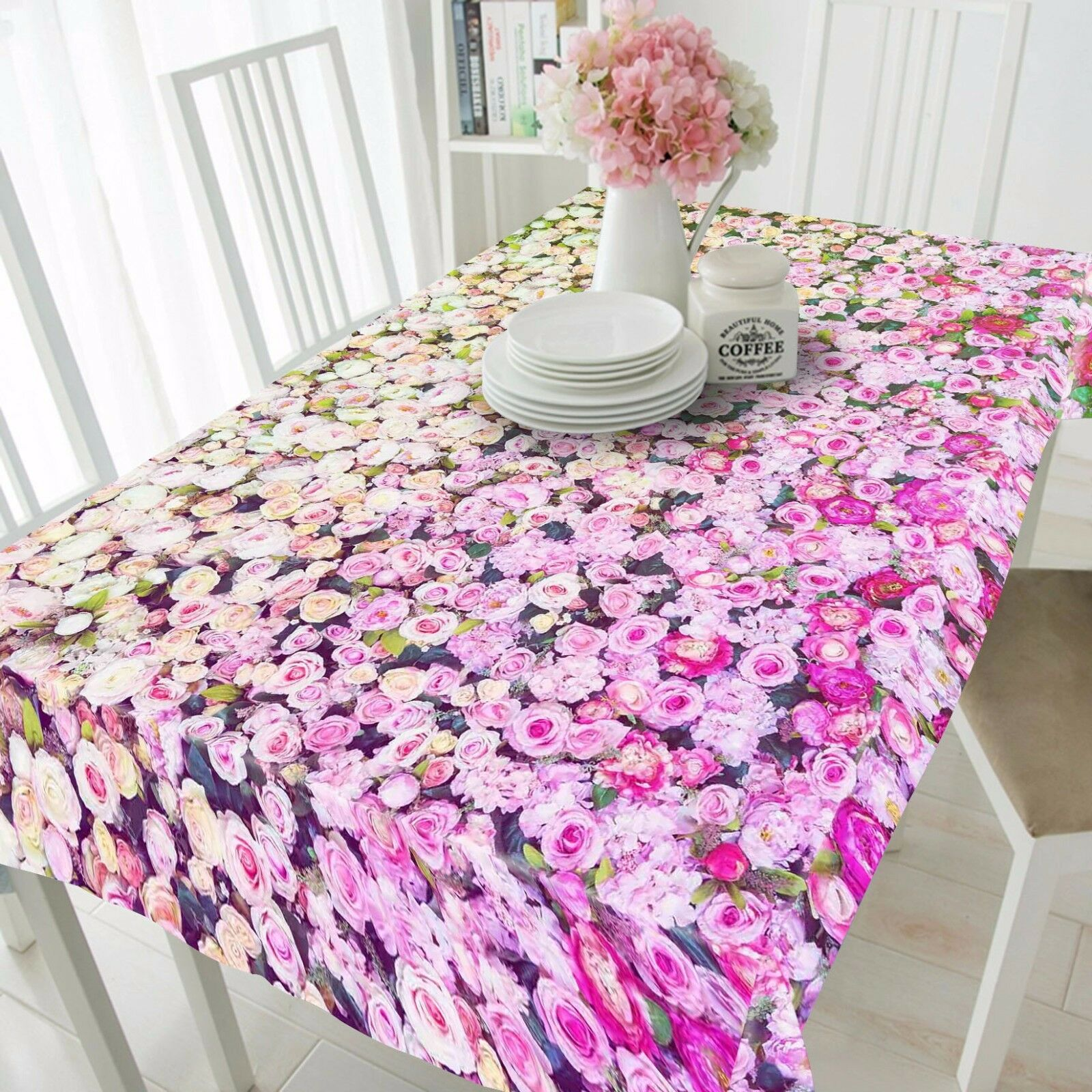 3D Flowers Wall 5 Tablecloth Table Cover Cloth Birthday Party Event AJ WALLPAPER