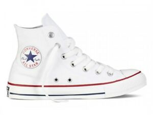 SNEAKERS CONVERSE ALL STAR HI ALTE BIANCO WHITE 36 37 38 39 40 41 42 43 44 45