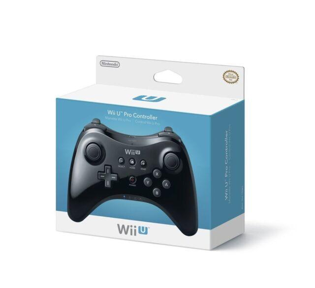 Official Nintendo Wii U Pro Controller Black OEM Genuine Wireless (WUPARSKA) VG