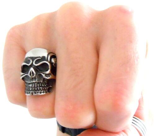 da2fb592f939 3 of 5 Men s Gothic Skull Ring - Stainless Steel Rocker Evil Skeleton Biker  Jewelry UK