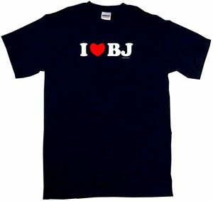 I Heart BJ Men/'s tee Shirt PICK Small-6XL /& COLOR S//S L//S Tank Sleeveless Love