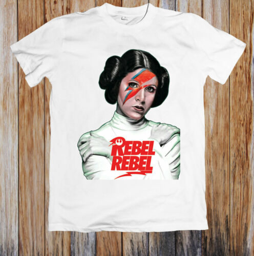 Princess Leia Rebel David Bowie Star Wars Force Unisex T Shirt