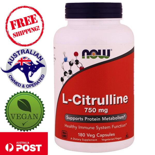 Now Foods, L-Citrulline, 750 mg, 180 Vegan Capsules - Non-GMO
