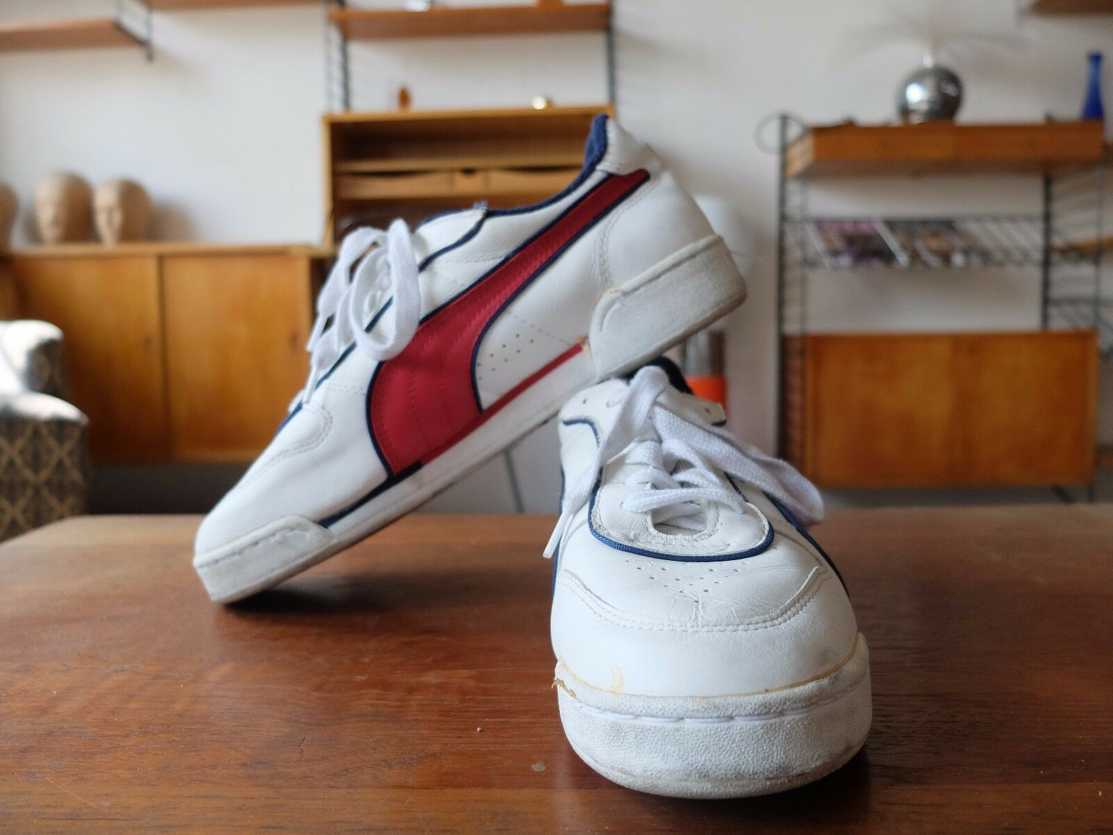 Puma Boris Backer baskets sport chaussures de sport EU vintage 39 blanc true vintage EU 80s 77381f